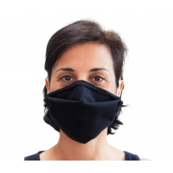 Masque Barrière Noir VIGIVIRUS L'effet Domino Adulte de Catégorie 1 DGA