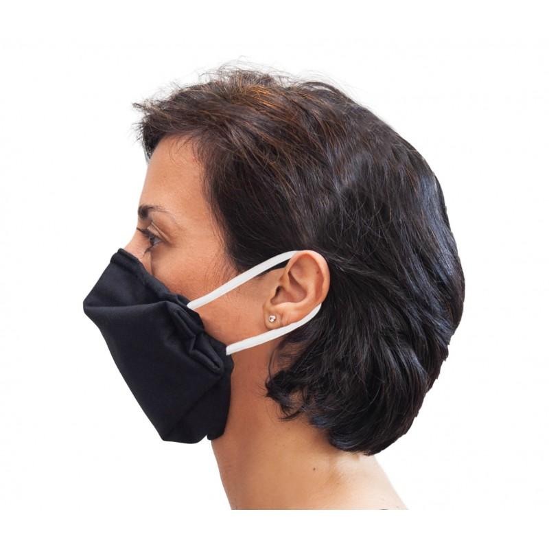 Masque Barrière Noir VIGIVIRUS L'effet Domino